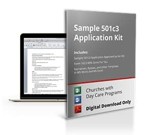 Sample 501c3 Application For Church with Day Care
