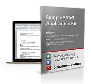 Sample 501c3 Application For Transitional Program for Women